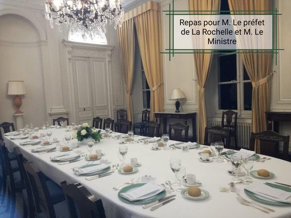 Repas pour Mr Le Ministre